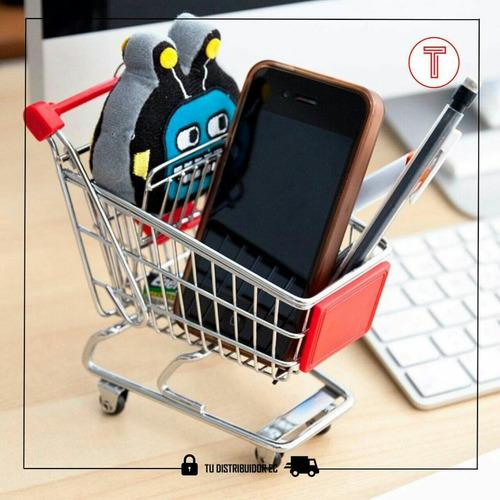 mini carrito de compra juguete publicidad decoración
