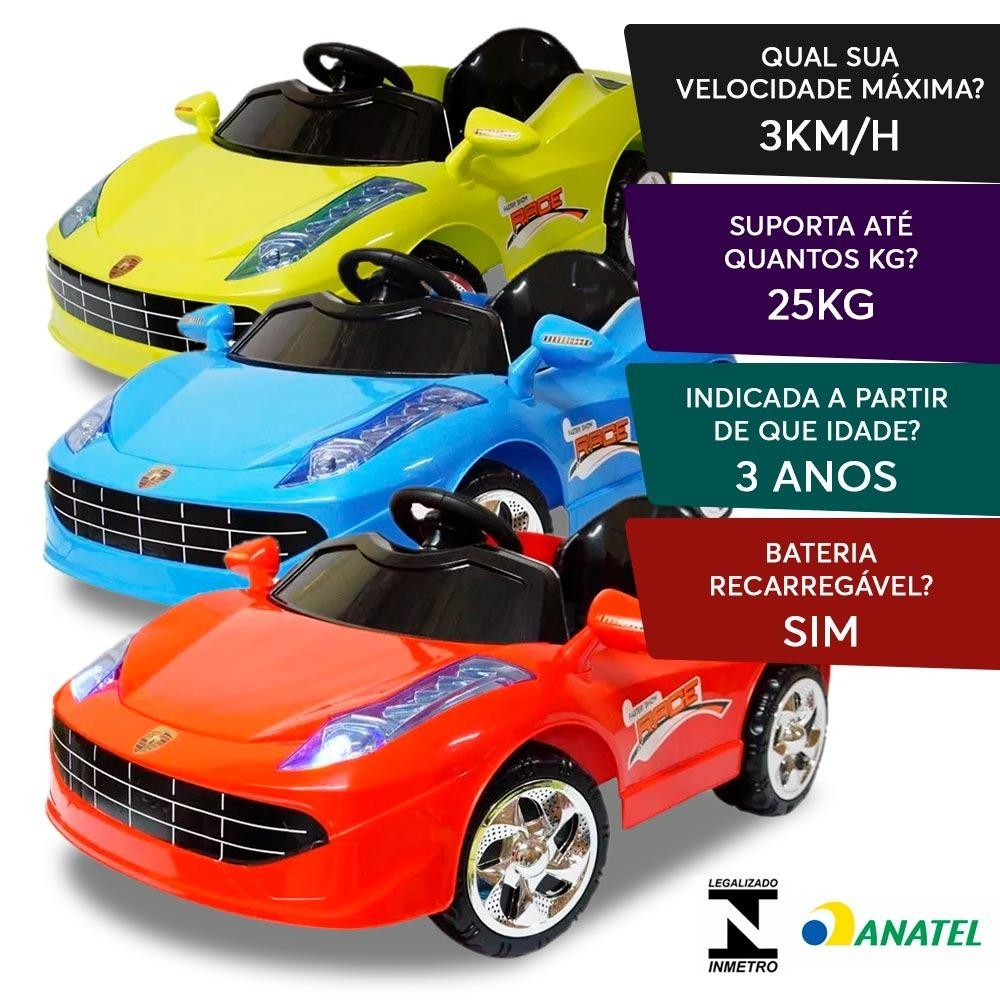 9dcb92d55 mini carro elétrico infantil criança bateria 6v ferrari. Carregando zoom.