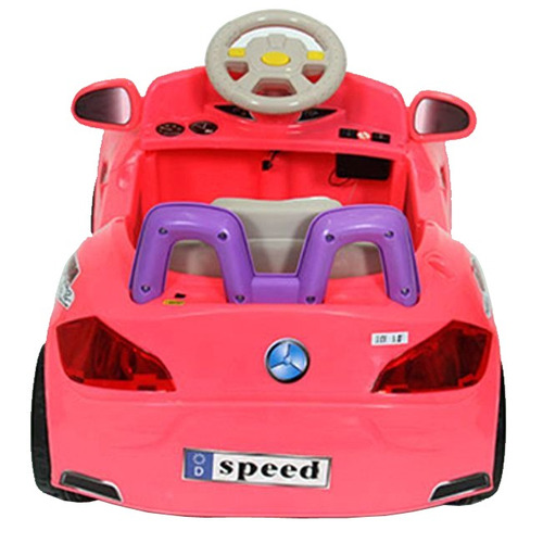 mini carro eletrico infantil rosa buzina carrinho criança