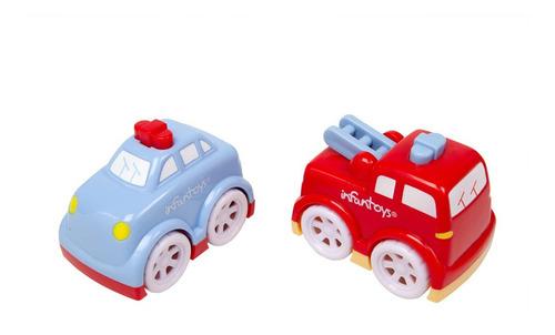 mini carros policía y bombero jgep8200 - r1/r2 infantoys