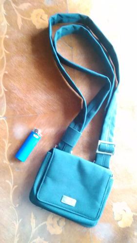 mini cartera negra cherry accesories tela vinílica