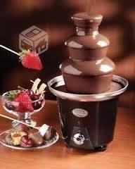 mini cascada de chocolate