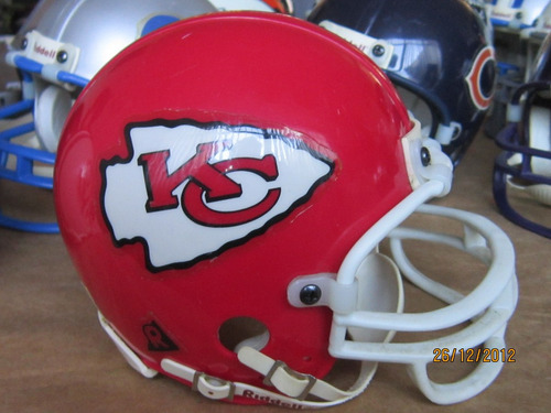 mini casco nfl kansas city chiefs 5 pulgadas