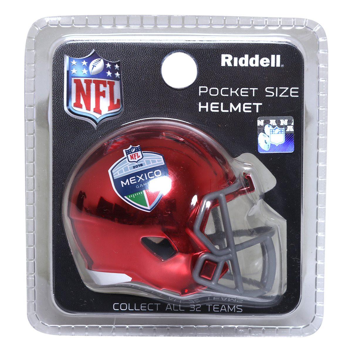 9cb050cd0c011 mini casco pocket nfl rojo cromado méxico edicion especial. Cargando zoom.