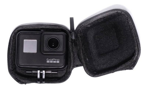 mini case para gopro hero 5 6 7 black silver white - funpro