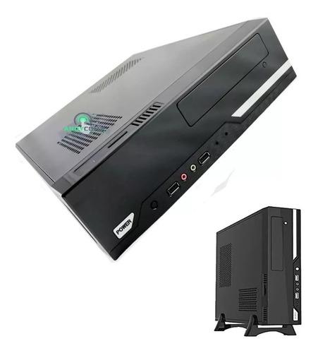 mini case slim 307 micro atx fuente 750w usb lector memoria