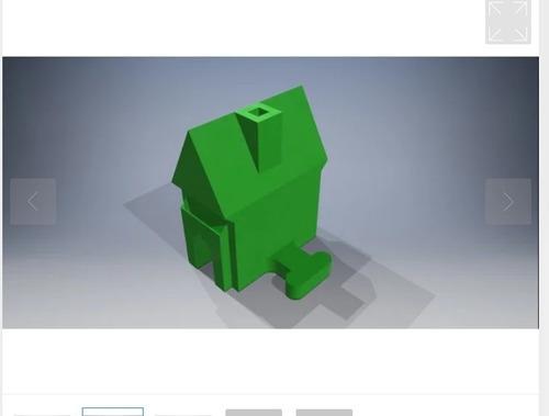 mini casinha monopoly tabuleiro maquete cores kit c/ 10 casa