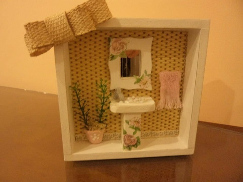 mini cenário - lavabo - pátina provençal