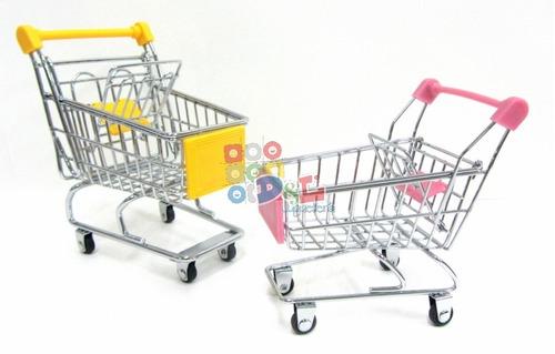 mini changuito carrito de supermercado muñecas o adorno
