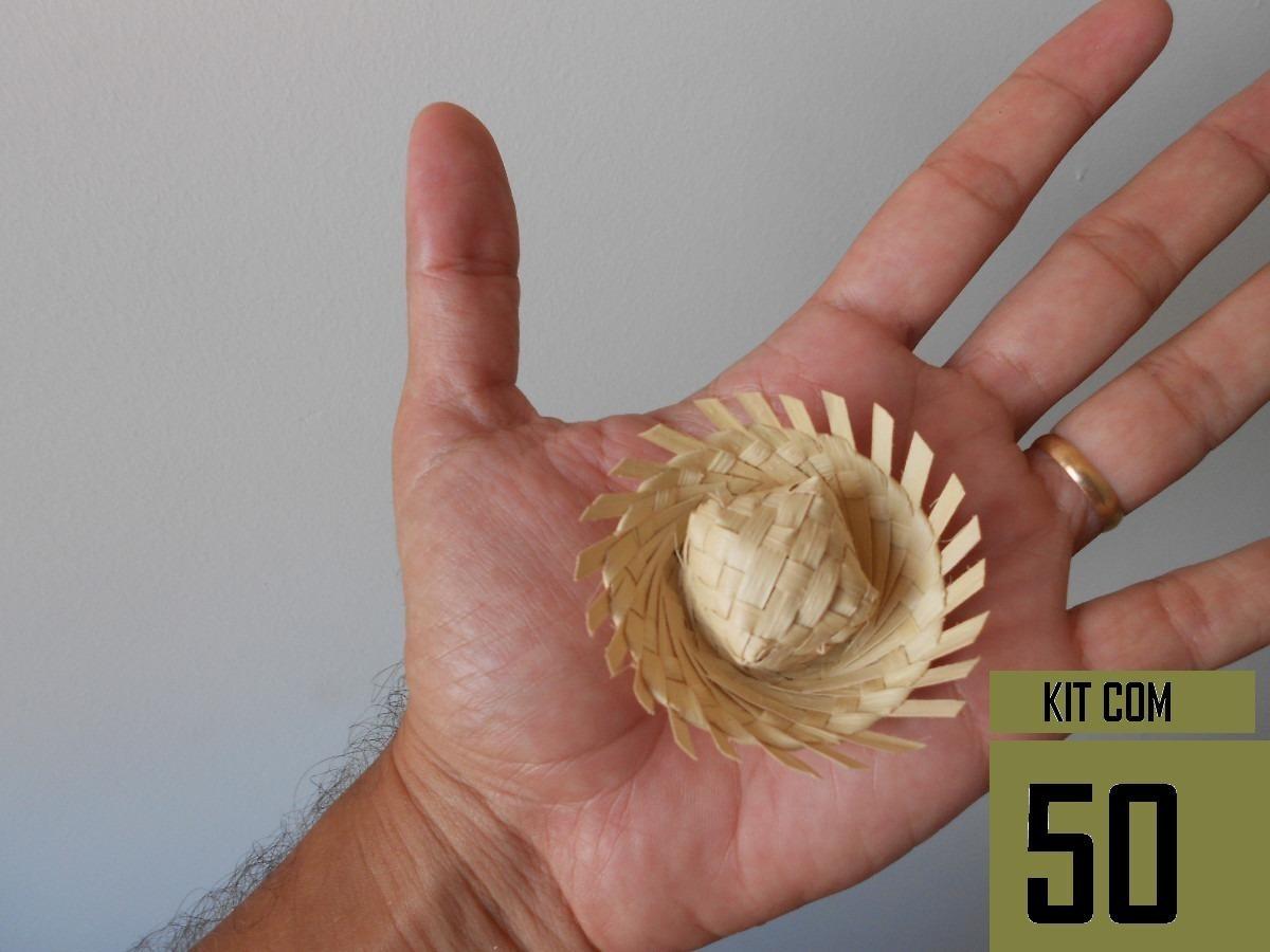 c96f7c5d399d1 mini chapéu de palha miniatura de chapéu50 und. Carregando zoom.