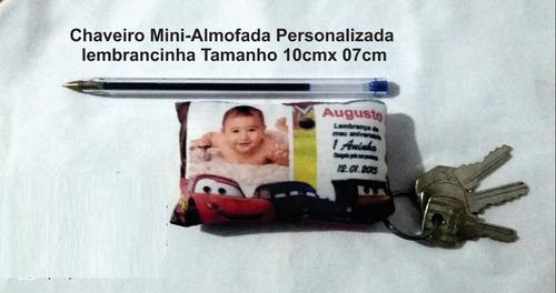 mini chaveiro almofada lembrancinha - 100 unidades