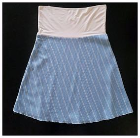 07a266fc1 Mini Cintura Ancha Que Se Dobla. Celeste Rayas Blancas