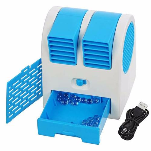 Mini climatizador ventilador com gua port til usb pilha - Climatizador de agua ...