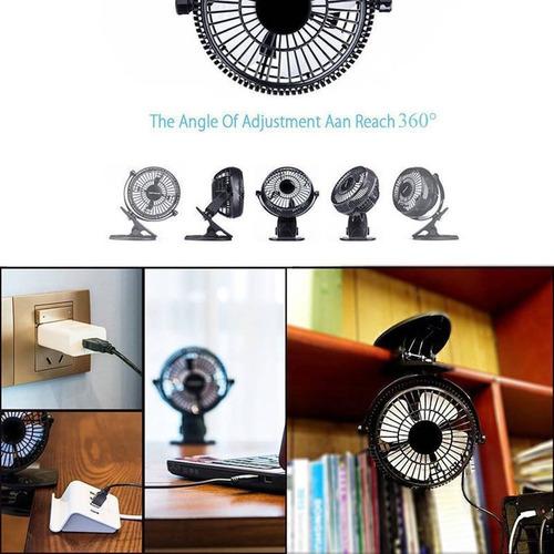 mini clip desk fan, caveen 5 '' portable pers + envio gratis
