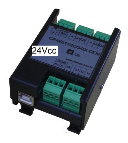 mini clp 24vcc -  cp-ws11/4do4di usb rs485 e modbus rtu