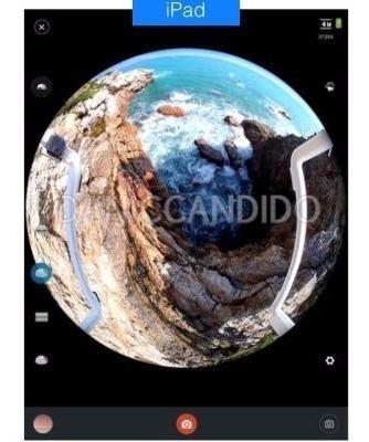 mini câmera original pano view 360° + acessórios.