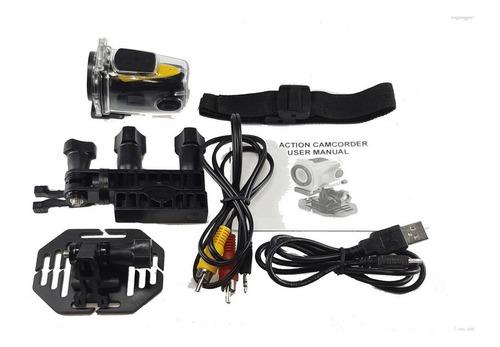 mini câmera sport cam hd 720p bike moto capacete prova água