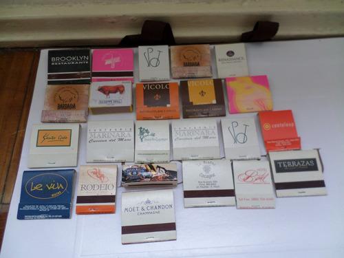 mini coleção de caixas de fosforos de restaurantes são paulo
