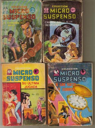 mini comics micro suspenso varios números año 1972 $ 35.00