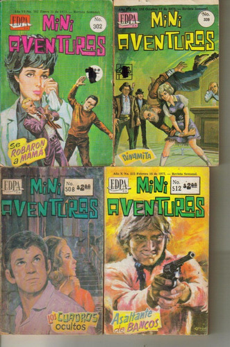 mini comics mini aventuras varios números año 1972 $ 35.00