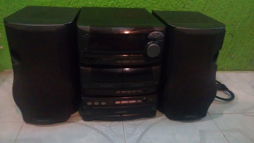 mini componente kenwood xd-500,3cd,2 cassetteras,tuner,aux