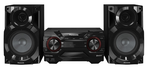 mini componente panasonic akx220 4950w cd mp3 usb am/fm blue
