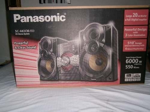 mini componente panasonic scakx36 6000w. nuevo en caja!!