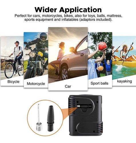 mini compresor 12v de aire carros, motos, bicicleta 100psi
