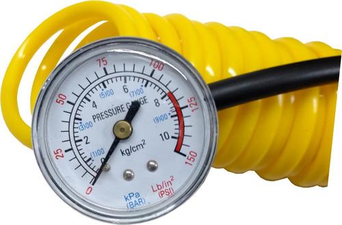 mini compresor aire 12 volts motos + autos + con medidor