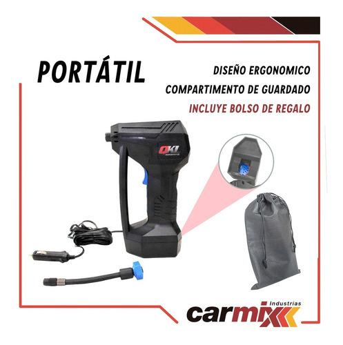 mini compresor digital 12v 120w 150psi con linterna y bolso