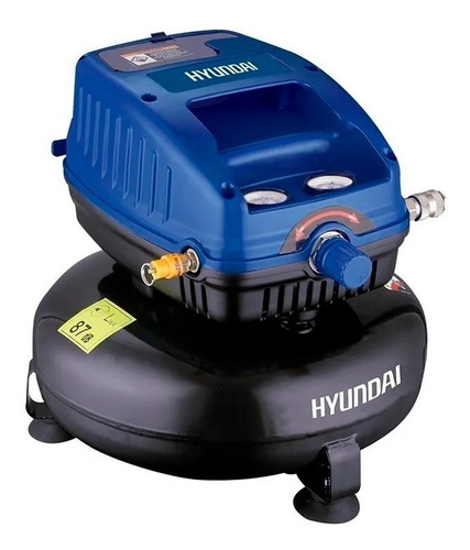 mini compresor hyundai libre de aceite 12l 1.3hp hyac12 250w