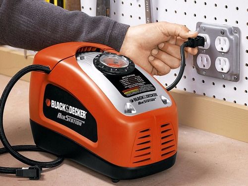 mini compresor inflador black decker 12v 220v asi300 160psi