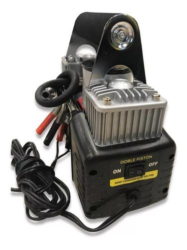 mini compresor inflador kushiro 150psi doble piston 12v port