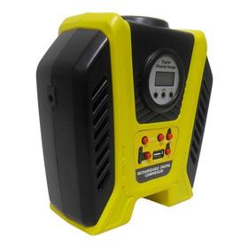 Mini Compressor Ar Recarregavel Usb Carro Digital Pneu Bola