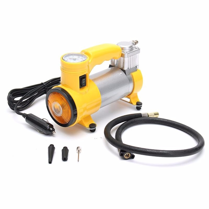 c35f7b7d52921 Mini Compressor De Ar 12v 150 Psi Com Lanterna