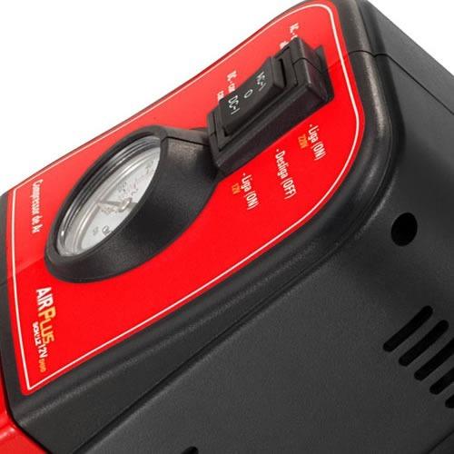 mini compressor de ar 12v duo air plus 110v - schulz