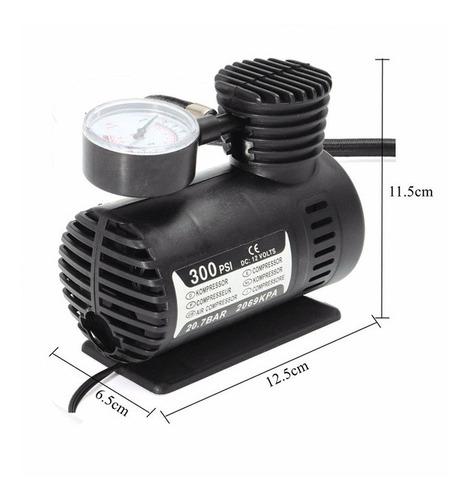 mini compressor de ar multiuso automotivo 12v 300psi