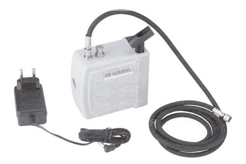 mini compressor wimpel + aerógrafo 0,3mm  steula + mangueira