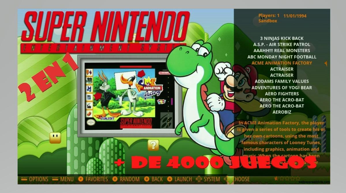 Mini Consola 5000 Juegos De Super Nintendo Retro Nes Snes S 300