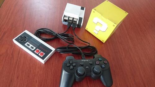 mini consola clasica 1 control ps3 + control nes de regalo