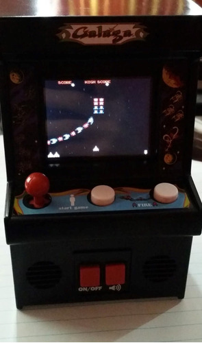 mini consola galaga classic arcade