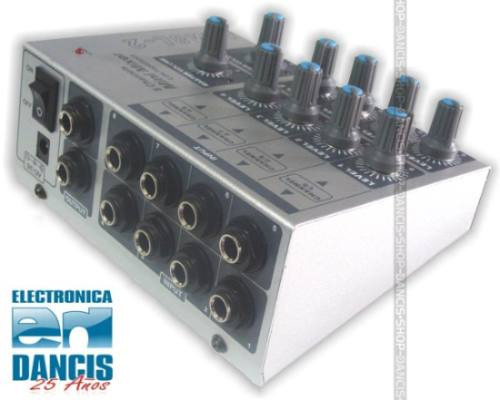 mini consola mezcladora selector microfono 4 en 1 stereo