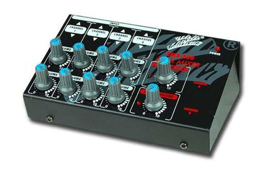mini consola mixer selector microf 4 en 1 stereo u 8 mono