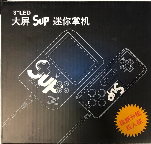 mini consola portatil negra tipo nintendo gameboy 400 juegos