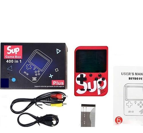 mini consola portátil retro sup game 400 juegos en 1- rojo