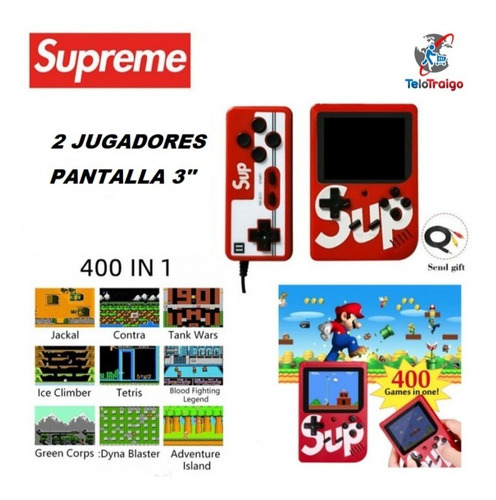 mini consola retro 400 juegos con mando adicional
