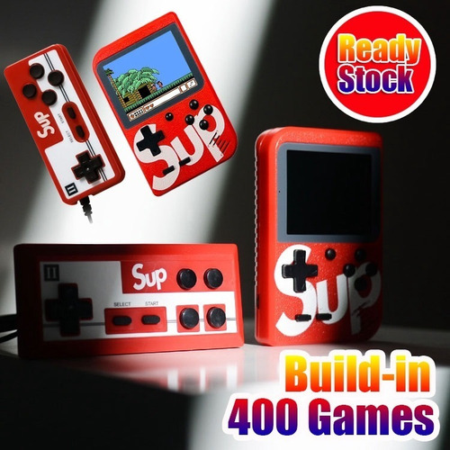 mini consola retro 400 juegos con mando adicional por docena