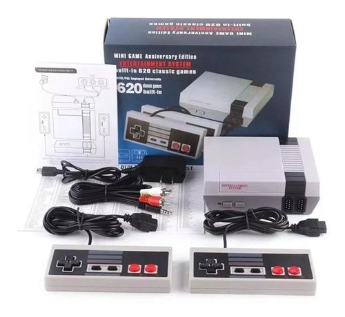 mini consola retro entertainment system 620 juegos clasicos 2 controles. envio gratis