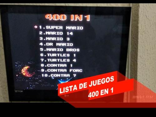 mini consola retro fc 400 in 1 tipo game boy clásicos roja