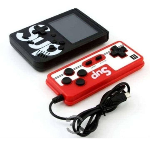 mini consola sup retro 400 in 1 con control player ii game